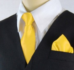 Gyerek nyakkendő szett - Citromsárga Gyerek nyakkendők