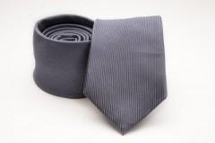 Prémium selyem nyakkendő - Grafit Egyszínű