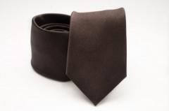 Prémium selyem nyakkendő - Sötétbarna
