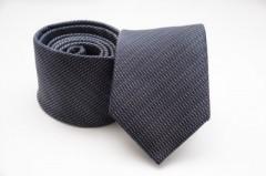 Prémium selyem nyakkendő - Sötétszürke aprómintás