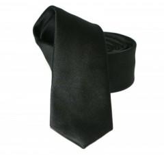 Goldenland slim nyakkendő - Fekete szatén