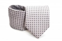 Prémium nyakkendő - Szürke kockás