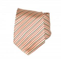 Saint Michael selyem nyakkendő - Drapp-piros csíkos