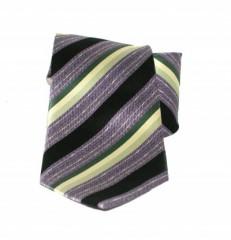 Saint Michael selyem nyakkendő - Lila-zöld csíkos