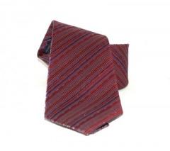 Saint Michael selyem nyakkendő - Bordó csíkos