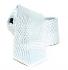 Goldenland slim nyakkendő - Ezüst pöttyös Aprómintás nyakkendő