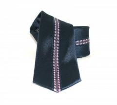 Goldenland slim nyakkendő - Sötétkék-rózsaszín mintás