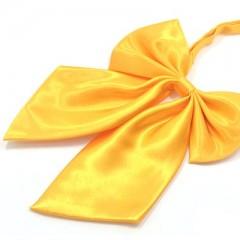 Szatén női csokornyakkendő - Citromsárga Női nyakkendők, csokornyakkendő