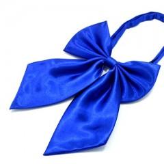 Szatén női csokornyakkendő - Királykék Női nyakkendők, csokornyakkendő