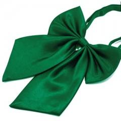 Szatén női csokornyakkendő - Zöld