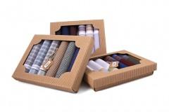 Ajándék zsebkendő szett - 6 db/csomag Pamut zsebkendő