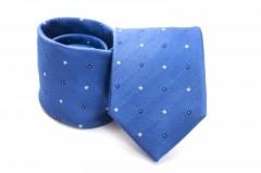 Prémium selyem nyakkendő - Égszínkék kis kockás