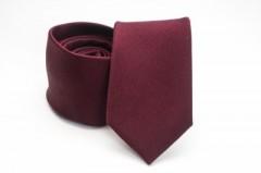Prémium selyem nyakkendő - Meggybordó