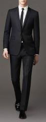 Parker slim fitt öltöny - Fekete