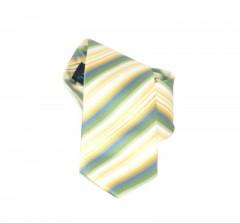 Classic prémium nyakkendő - Zöld-sárga csíkos Csíkos nyakkendő