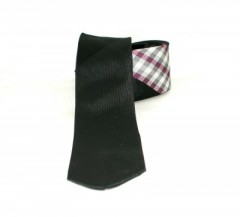 Classic prémium nyakkendő - Fekete kockás Kockás nyakkendők