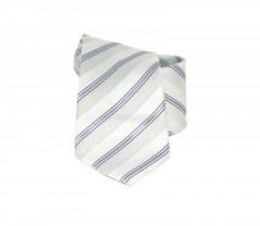 Classic prémium nyakkendő - Ezüst-lila csíkos Csíkos nyakkendő