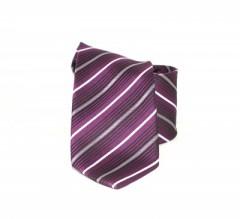 Classic prémium nyakkendő - Lila csíkos Csíkos nyakkendő