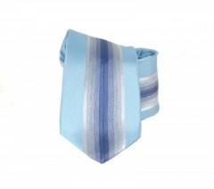 Classic prémium nyakkendő - Kék csíkos Akciós