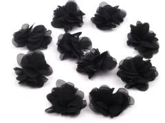 Tüll virág - Fekete