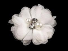 Textil virág - Fehér