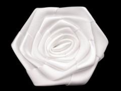 Szatén rózsa - Fehér
