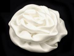 Szatén rózsa - Ecru