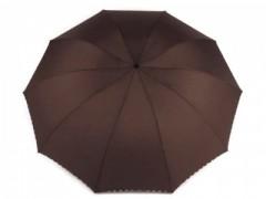 Női nagy összecsukható esernyő - Sötétbarna Női esernyő,esőkabát