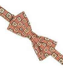 Zsorzsett szatén csokornyakkendő - Kockás Mintás