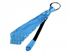 Nyakkendő flitterekkel - Azúrkék
