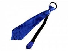 Nyakkendő flitterekkel - Királykék
