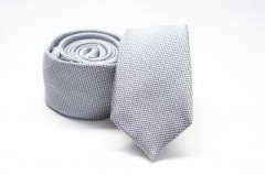 Prémium slim nyakkendő - Szürke aprómintás
