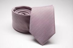 Prémium selyem nyakkendő - Rózsaszín mintás