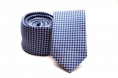 Prémium slim nyakkendő -   Kék pöttyös Aprómintás nyakkendő