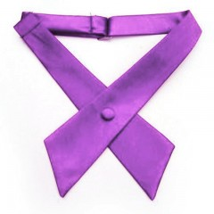 Szatén unisex kereszt nyakkendő - Lila Francia, Ascot, Különlegesség