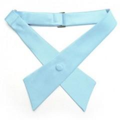 Szatén unisex kereszt nyakkendő - Világoskék