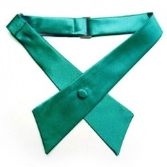 Szatén unisex kereszt nyakkendő - Zöld