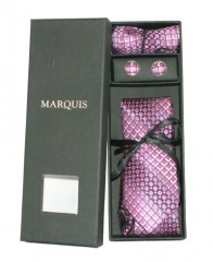 Marquis nyakkendő szett - Pink mintás