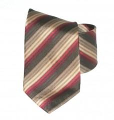 G.L selyemnyakkendő  - Bordó-arany csíkos