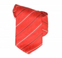 Classic prémium nyakkendő - Piros csíkos Csíkos nyakkendő