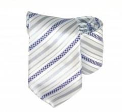 Classic prémium nyakkendő - Szürke-lila csíkos Csíkos nyakkendő