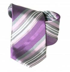 Classic prémium nyakkendő - Ezüst-lila csíkos