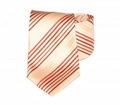 Classic prémium nyakkendő - Barack-piros csíkos