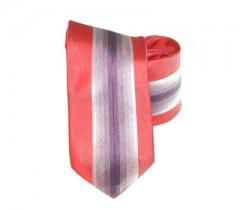Classic prémium nyakkendő - Piros-lila csíkos Akciós