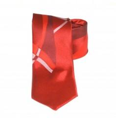 Classic prémium nyakkendő - Piros mintás