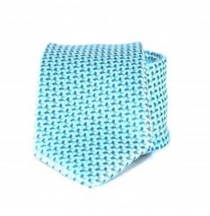Goldenland slim nyakkendő - Tűrkízkék mintás