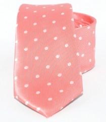 Goldenland slim nyakkendő - Lazac pöttyös