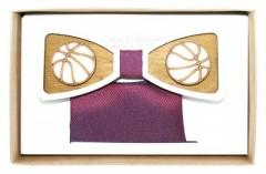 Fa csokornyakkendő szett - Kosárlabda Különlegesség