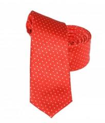 Goldenland slim nyakkendő - Meggypiros aprópöttyös