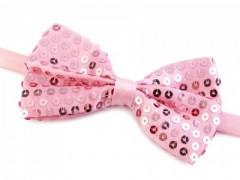 Flitteres csokornyakkendő - Rózsaszín